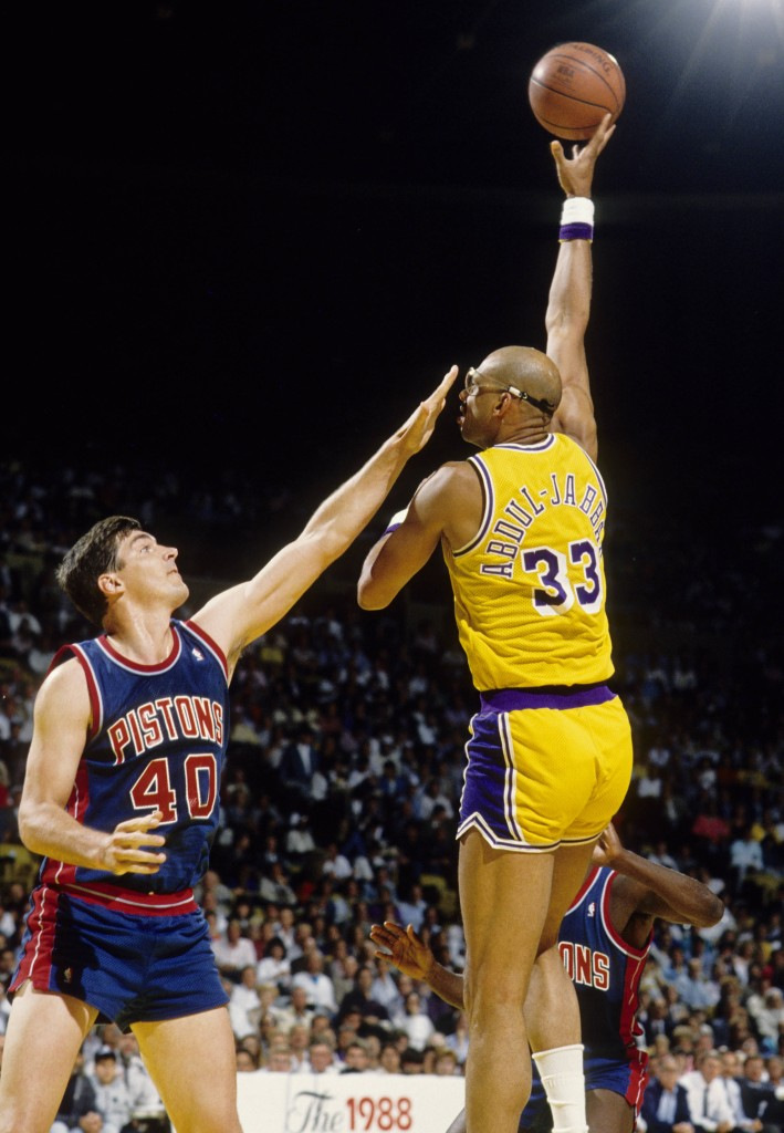 Jabbar over Laimbeer